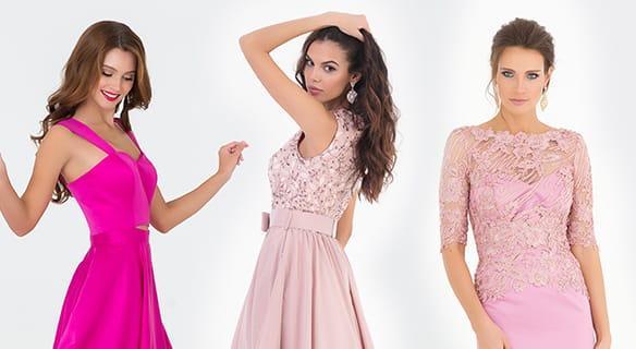 Модные вечерние платья розового цвета